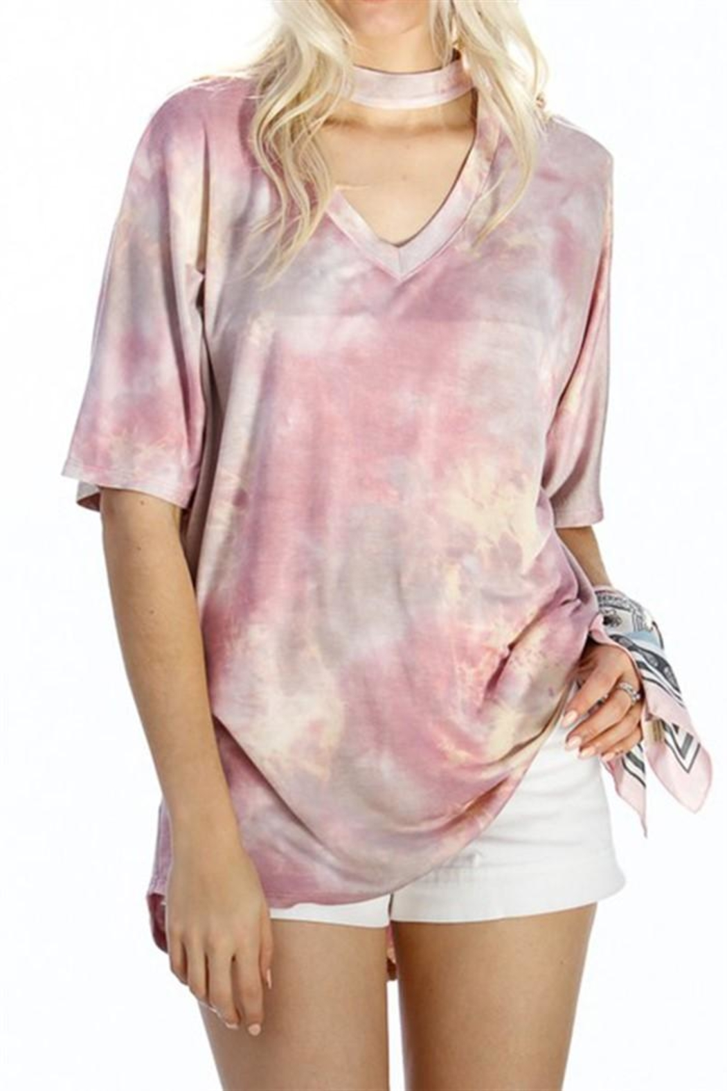 My Story Tie Dye Top - Front Cropped Image