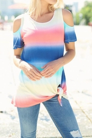 Lovely J Tie Dye Top - Front cropped