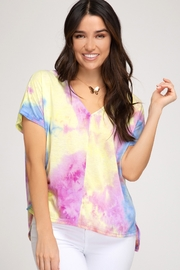 She + Sky Tie Dye Top - Product Mini Image