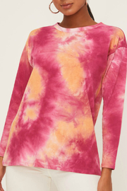 Lush Tie Dye Top - Front cropped