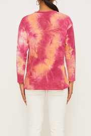 Lush Tie Dye Top - Front full body