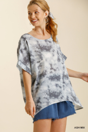 umgee  TIE DYE TOP W/HI LO HEM - Product Mini Image