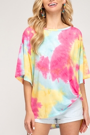 She and Sky Tie Dye Trends Top - Product Mini Image