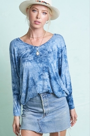 LA MIEL  Tie Dye V-Neck - Product Mini Image
