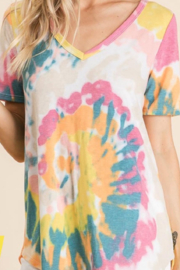 Bibi Tie dye V-neck - Product Mini Image