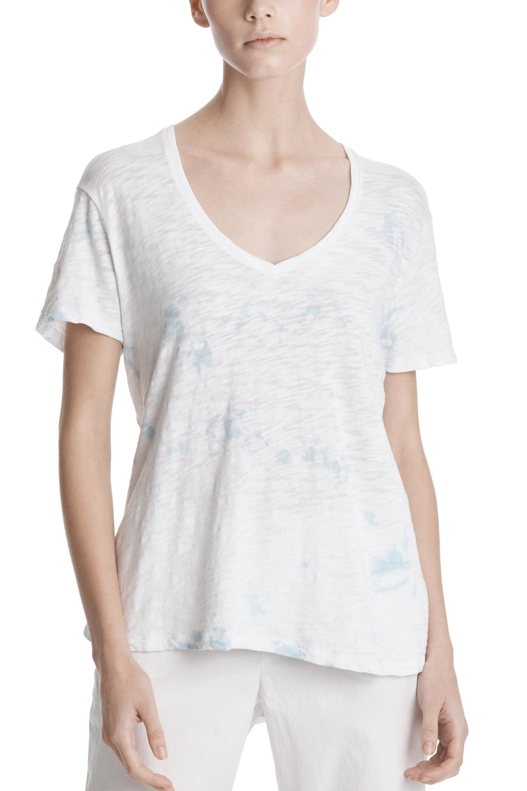 ATM Anthony Thomas Melillo Tie Dye V-Neck - Main Image