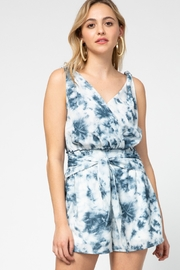 entro  Tie Dye V Neck Romper - Product Mini Image