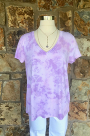 LuLuLisa Tie Dye V-Neck Soft Tee - Product Mini Image