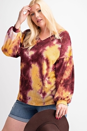 143 Story Tie Dye V Neck Waffle Top - Product Mini Image