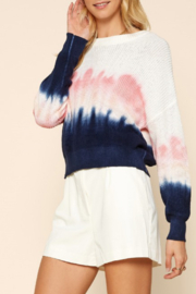 Skies Are Blue Tie Dye Water Color Sweater - Product Mini Image