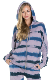 R+D  Tie Dye Zip Up Hoodie - Product Mini Image