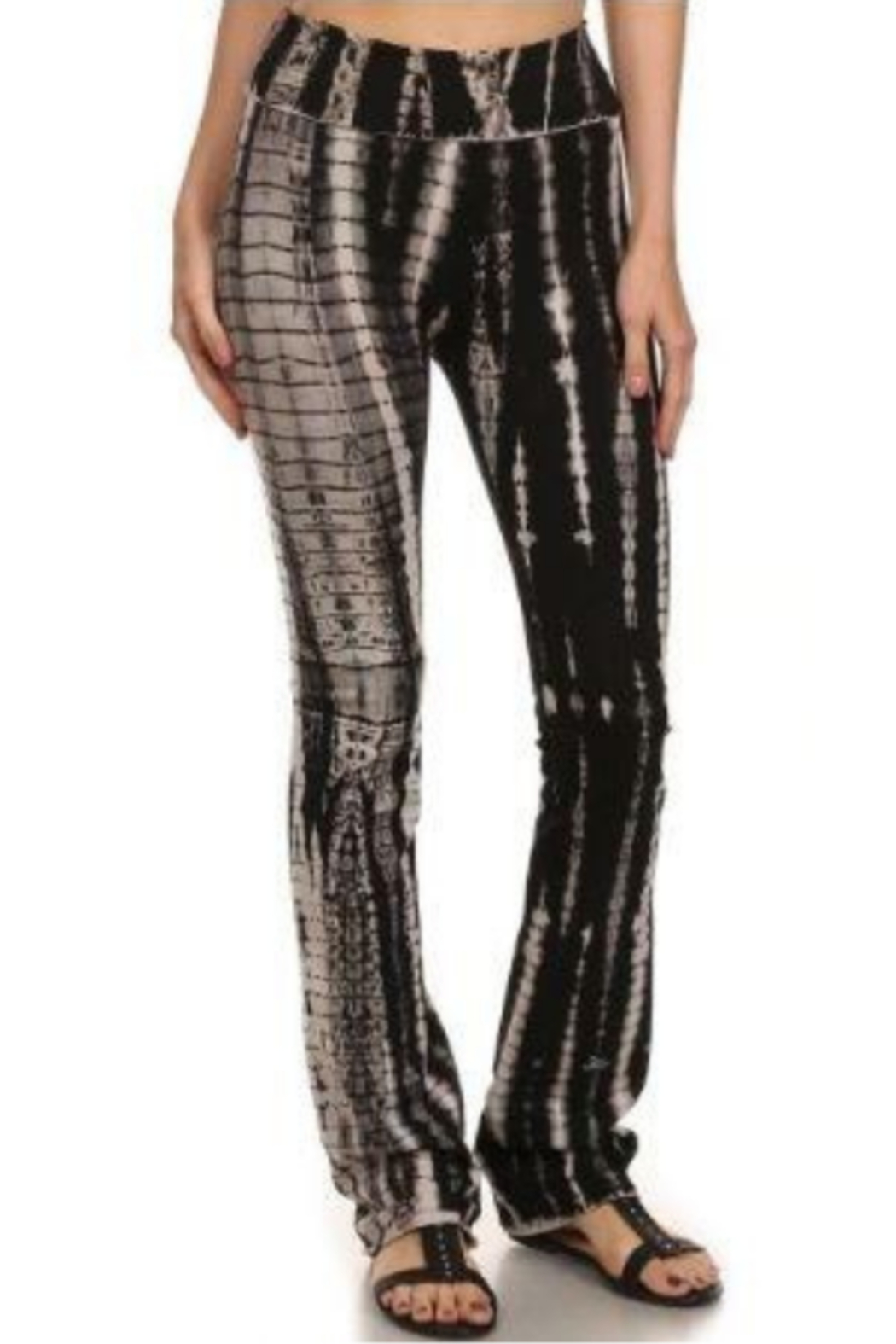 T Party Tie Dyed Boot-Cut Yoga Pants - Main Image