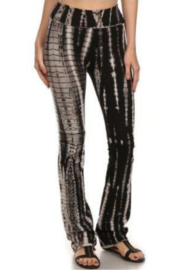 T Party Tie Dyed Boot-Cut Yoga Pants - Front cropped