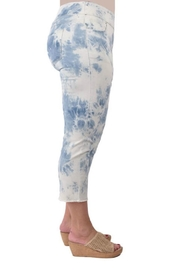 True Blue  Tie-Dyed Capri's - Front full body