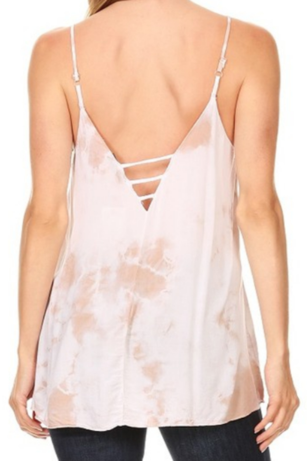 T Party Tie Dyed Cut-Out Back Top - Side Cropped Image