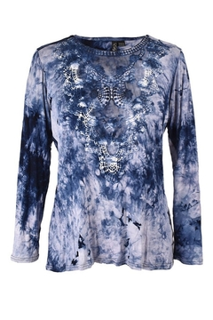 True Blue  Tie-dyed Knit Tunic - Alternate List Image