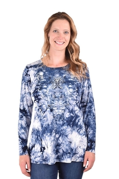 True Blue  Tie-dyed Knit Tunic - Product List Image