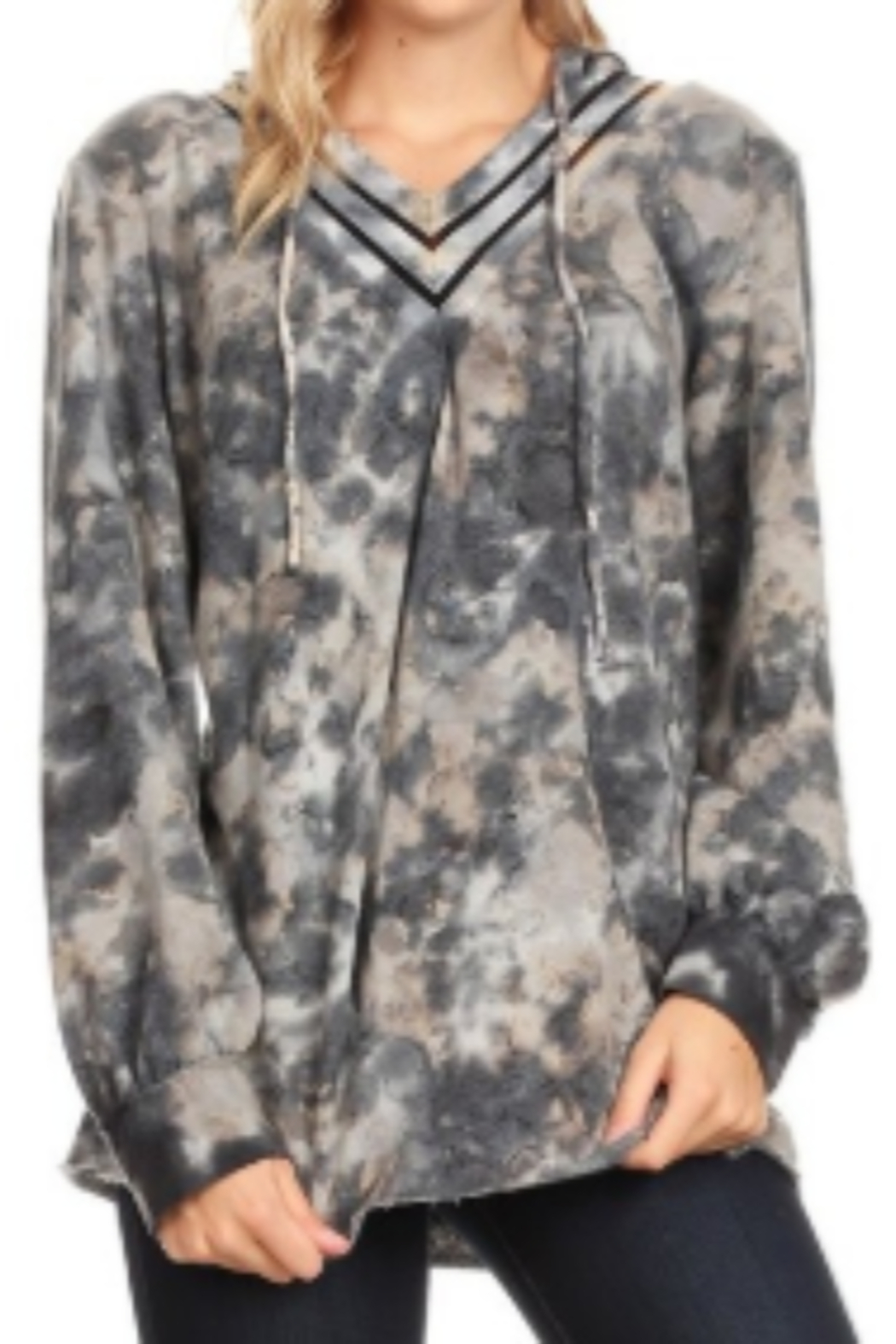 T Party Tie-Dyed Long Sleeve Soft Sweatshirt - Main Image