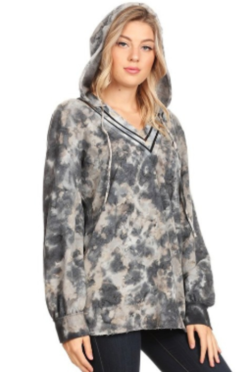 T Party Tie-Dyed Long Sleeve Soft Sweatshirt - Side Cropped Image