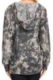 T Party Tie-Dyed Long Sleeve Soft Sweatshirt - Front full body
