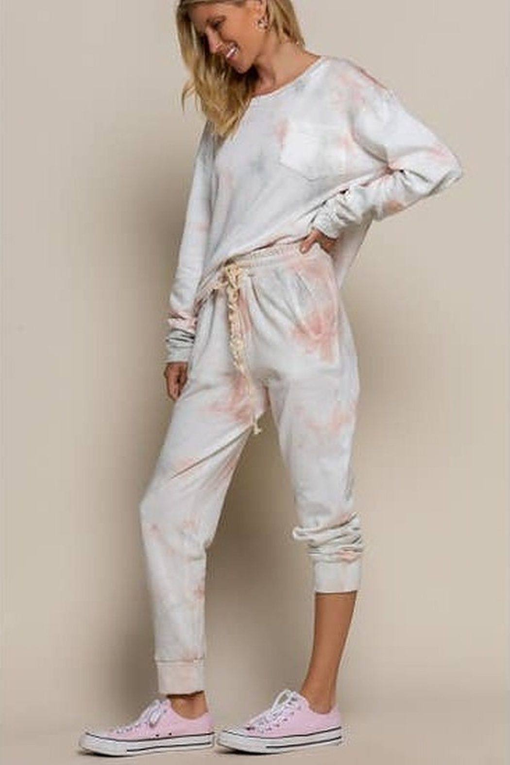 POL  Tie Dyed Lounge Pants - Front Full Image