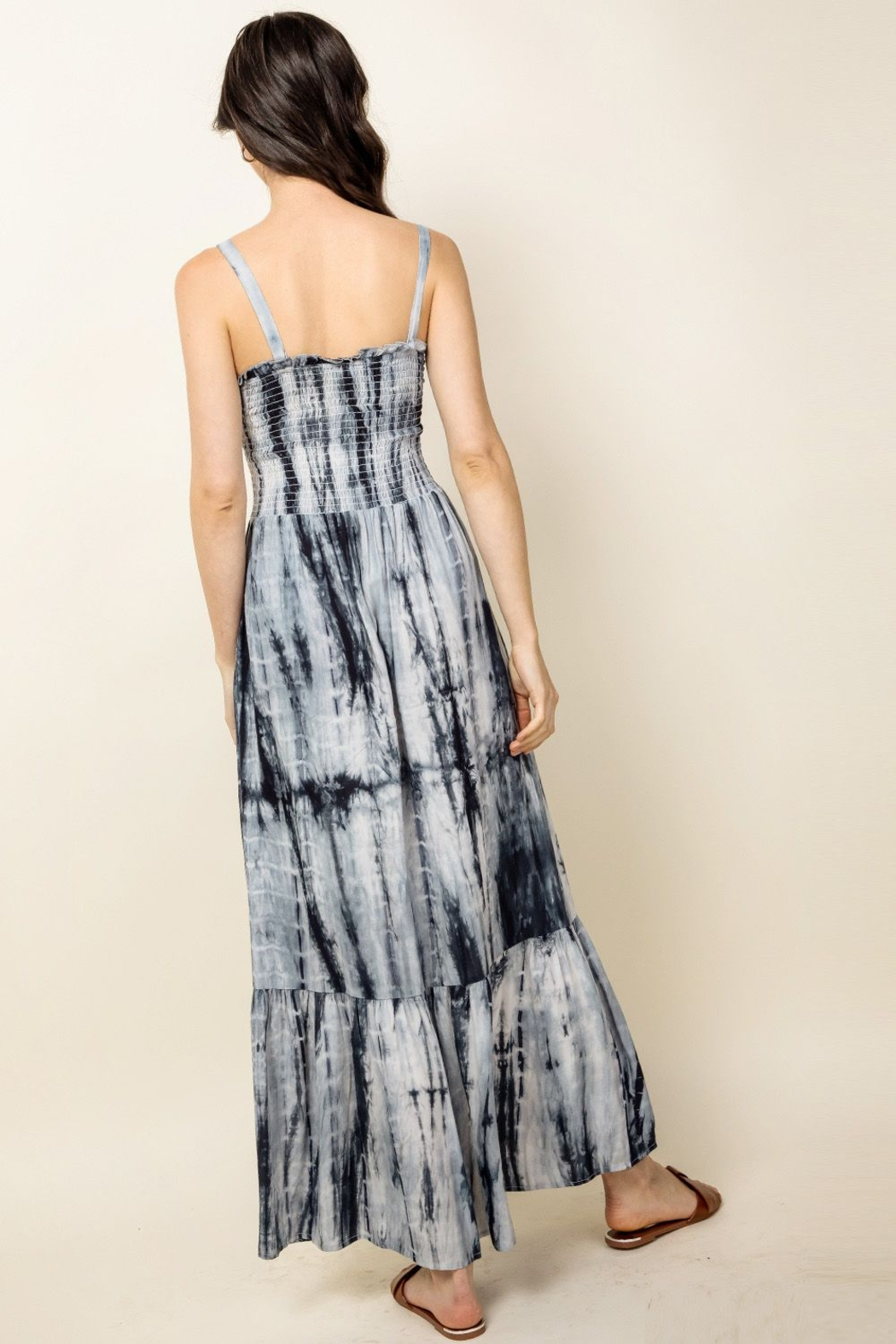 Thml TIE-DYED MAXI DRESS - Side Cropped Image