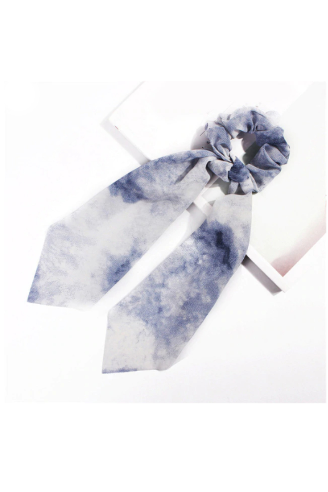 The Birds Nest TIE-DYED SCRUNCHIE SCARF - Front Cropped Image