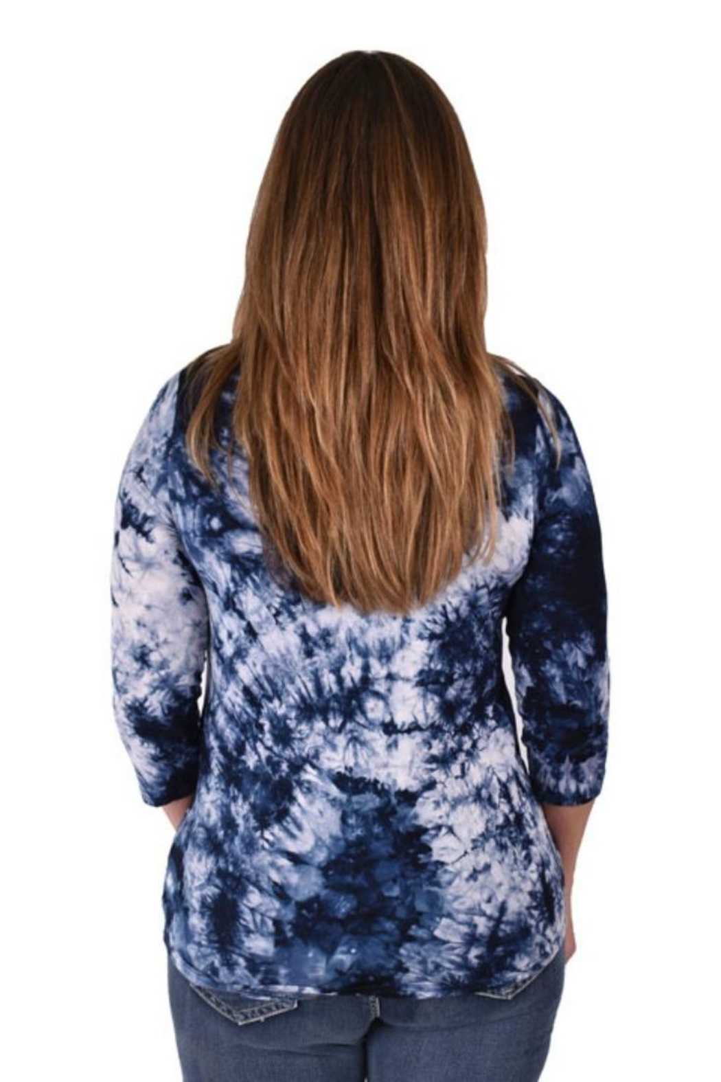 True Blue  Tie-Dyed Tunic - Side Cropped Image