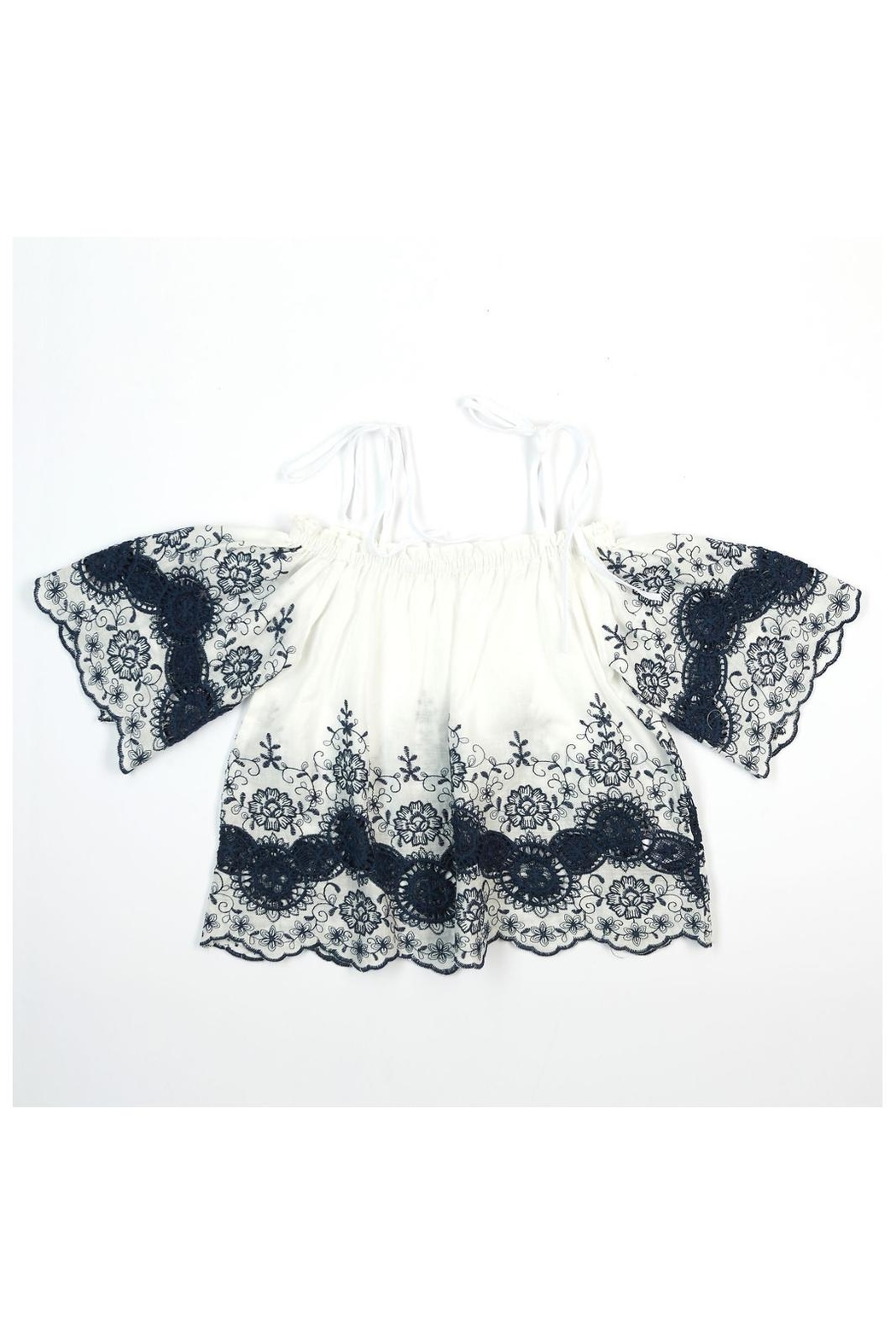 Doe a Dear Tie Eyelet Set - Front Cropped Image