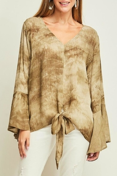 Shoptiques Product: Tie-Front Bell-Sleeve Top
