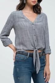 Blu Pepper Tie Front Blouse - Front cropped