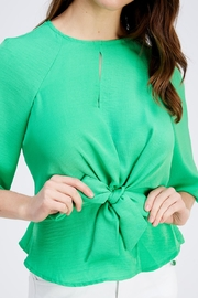 Love Encounter Tie Front Blouse - Front full body