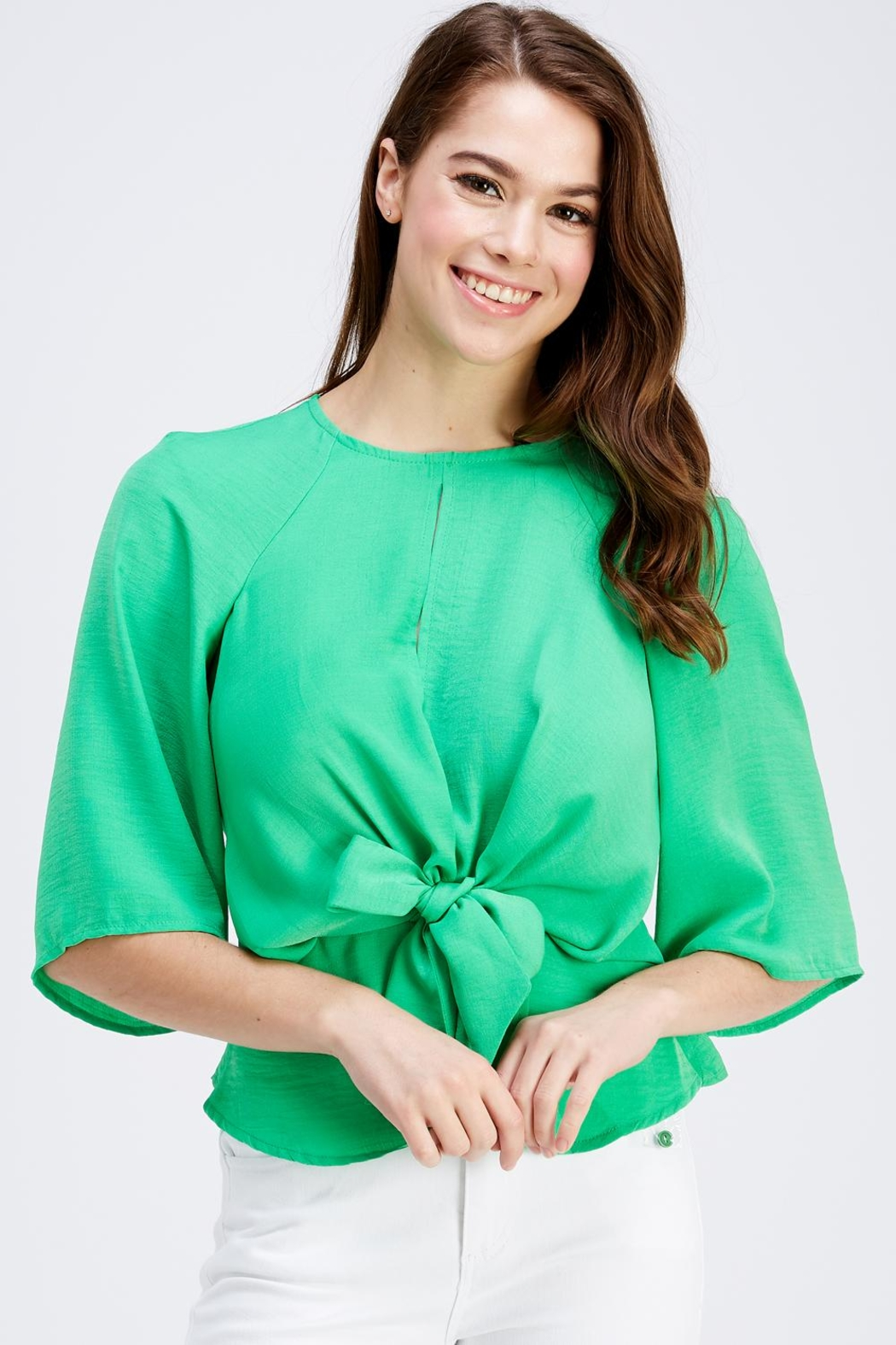Love Encounter Tie Front Blouse - Main Image