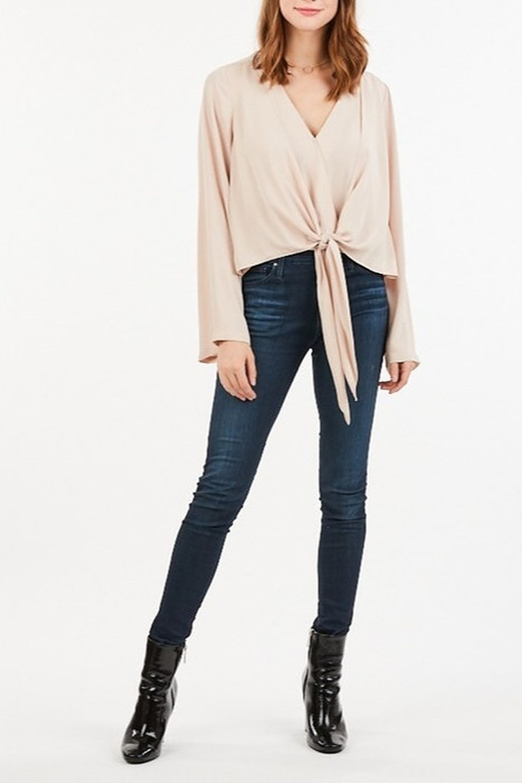 Very J  Tie Front Blouse - Side Cropped Image