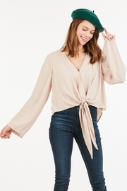 Very J  Tie Front Blouse - Product Mini Image