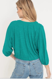 Lush Clothing  Tie front blouse - Front full body