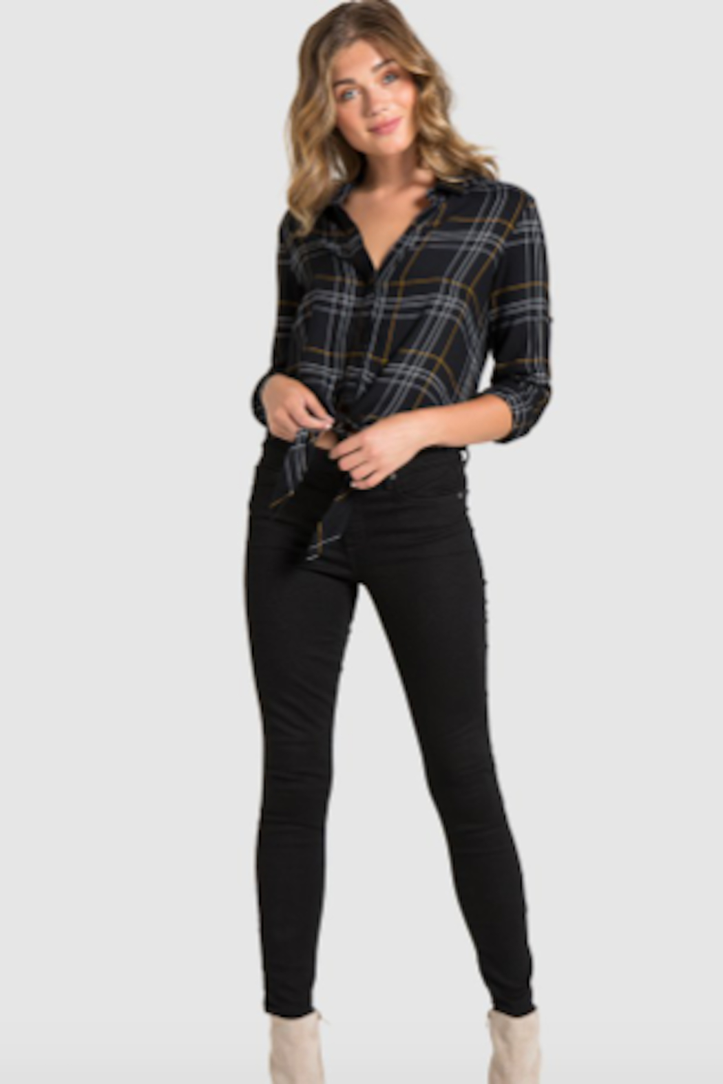 Bella Dahl Tie Front Button Down - Front Full Image
