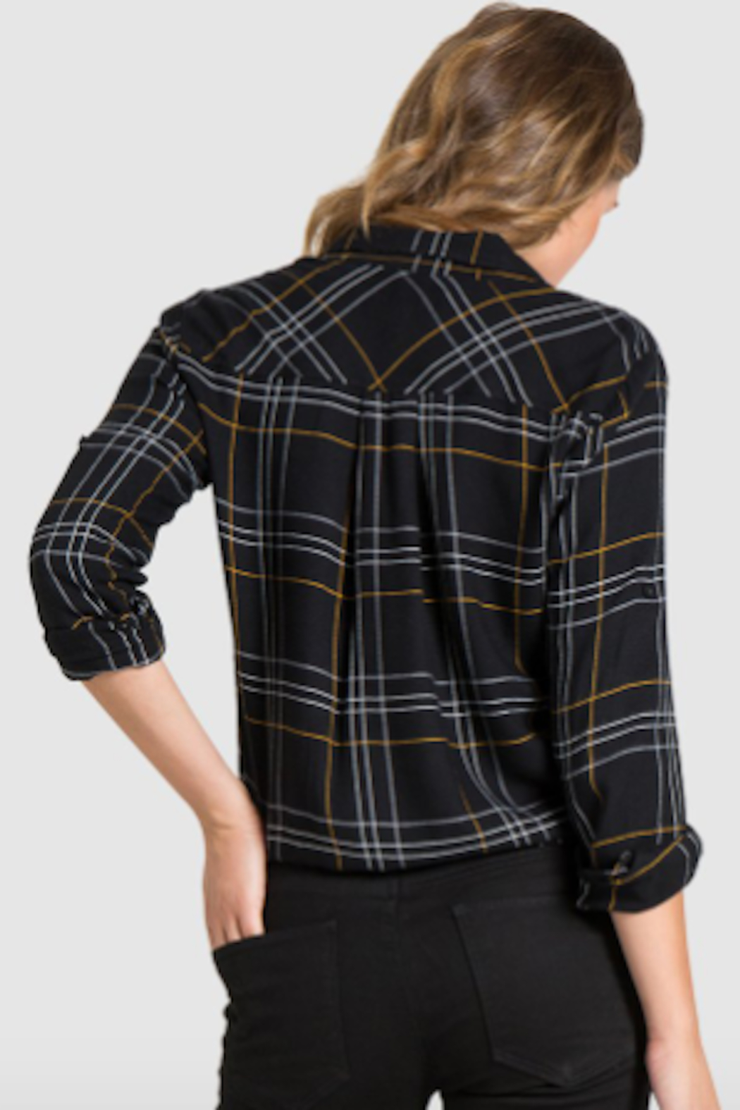 Bella Dahl Tie Front Button Down - Side Cropped Image