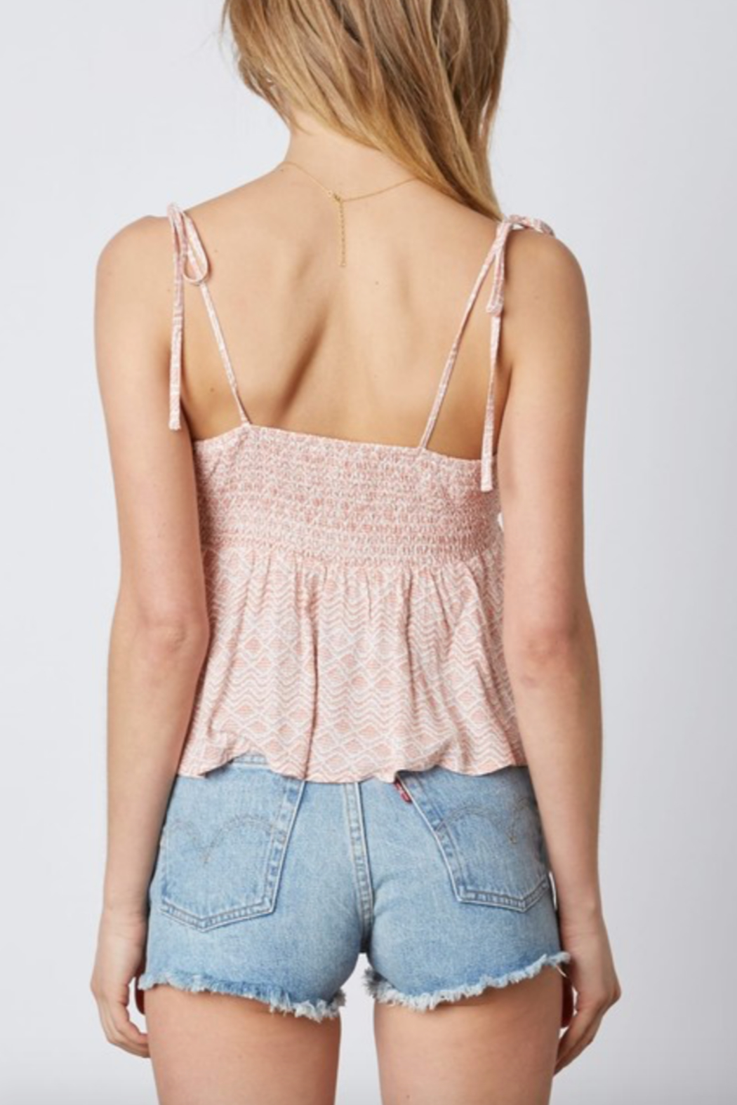 Cotton Candy LA Tie Front Cami - Front Full Image