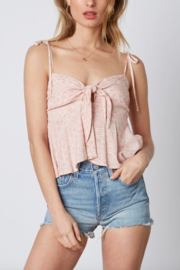 Cotton Candy LA Tie Front Cami - Product Mini Image
