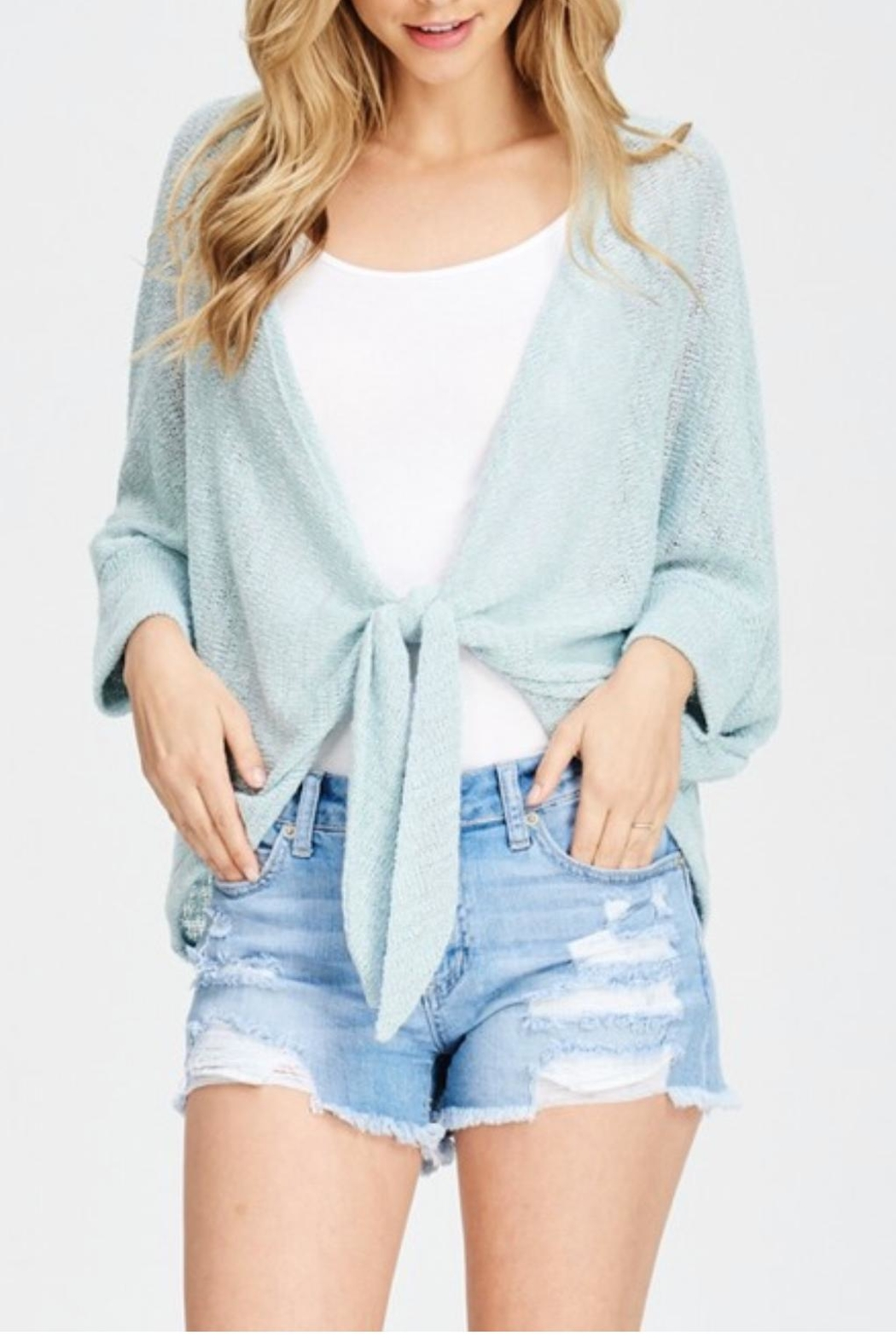 Jolie Tie Front Cardigan - Side Cropped Image