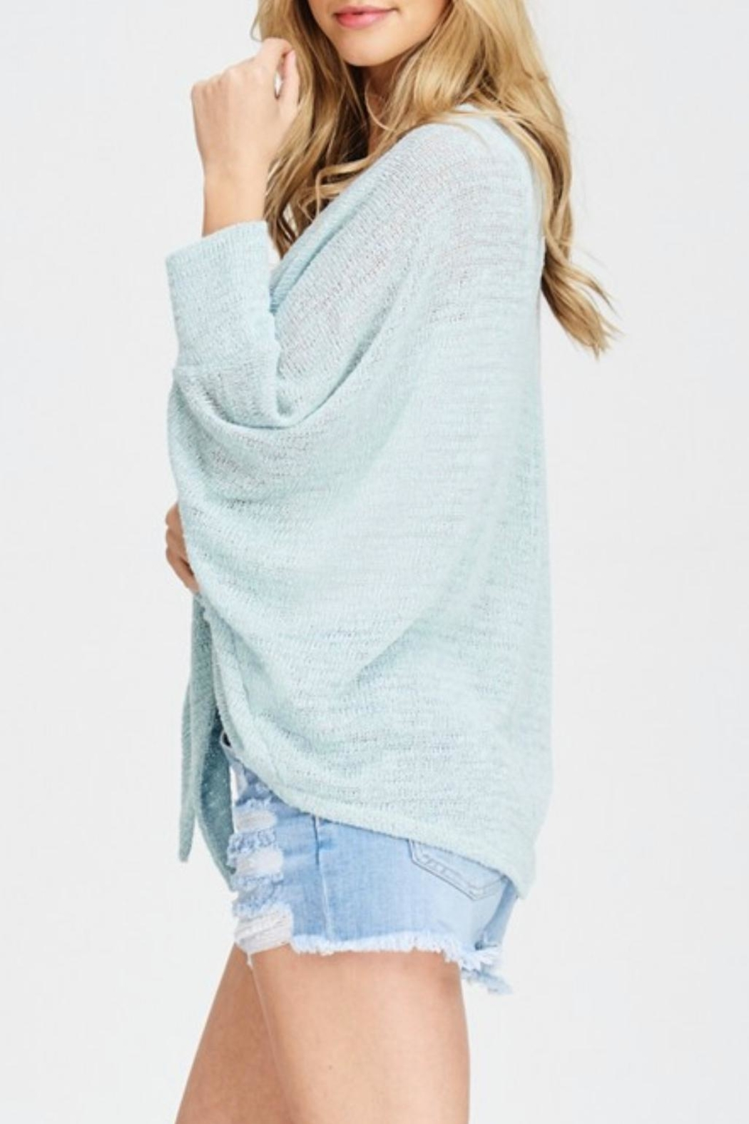 Jolie Tie Front Cardigan - Back Cropped Image