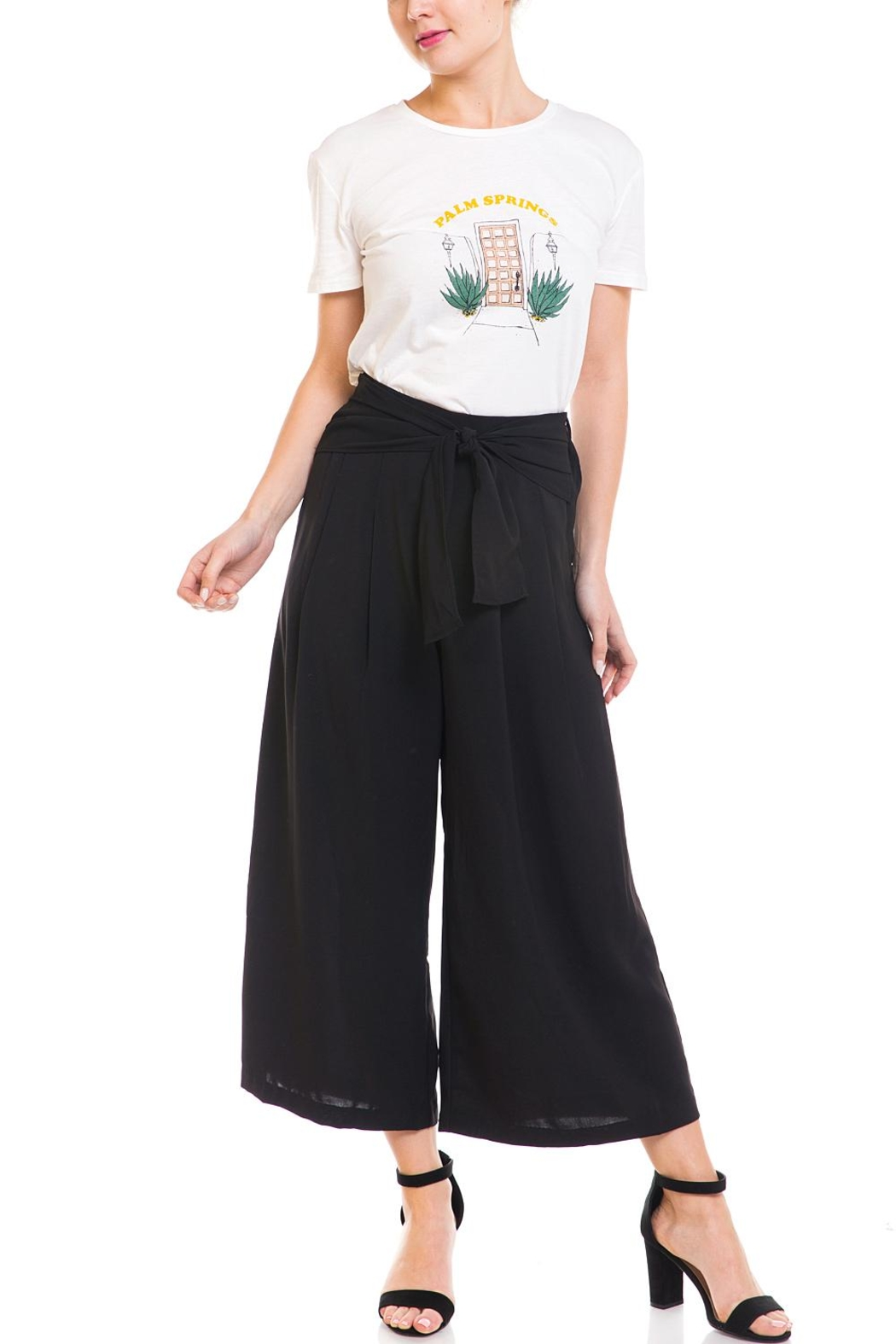 Do & Be Tie-Front Cropped Pants - Front Full Image