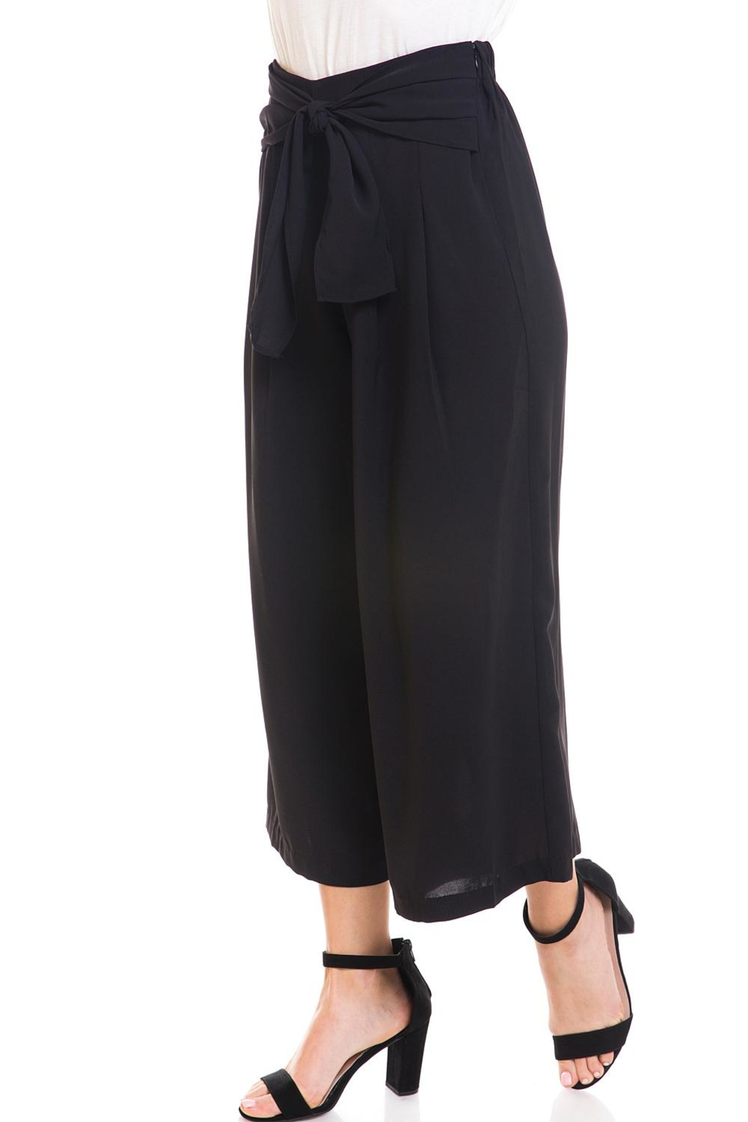 Do & Be Tie-Front Cropped Pants - Side Cropped Image