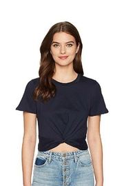 J.O.A. Tie-Front Cropped Tee - Product Mini Image