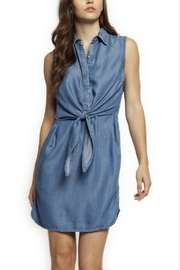 Dex Tie Front Denim Dress - Product Mini Image