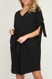 She + Sky Tie Front Dress - Product Mini Image