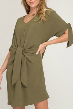 She + Sky Tie Front Dress - Product List Image