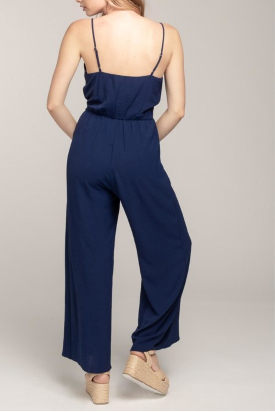 ALB Anchorage Tie Front Jumpsuit - Front Full Image