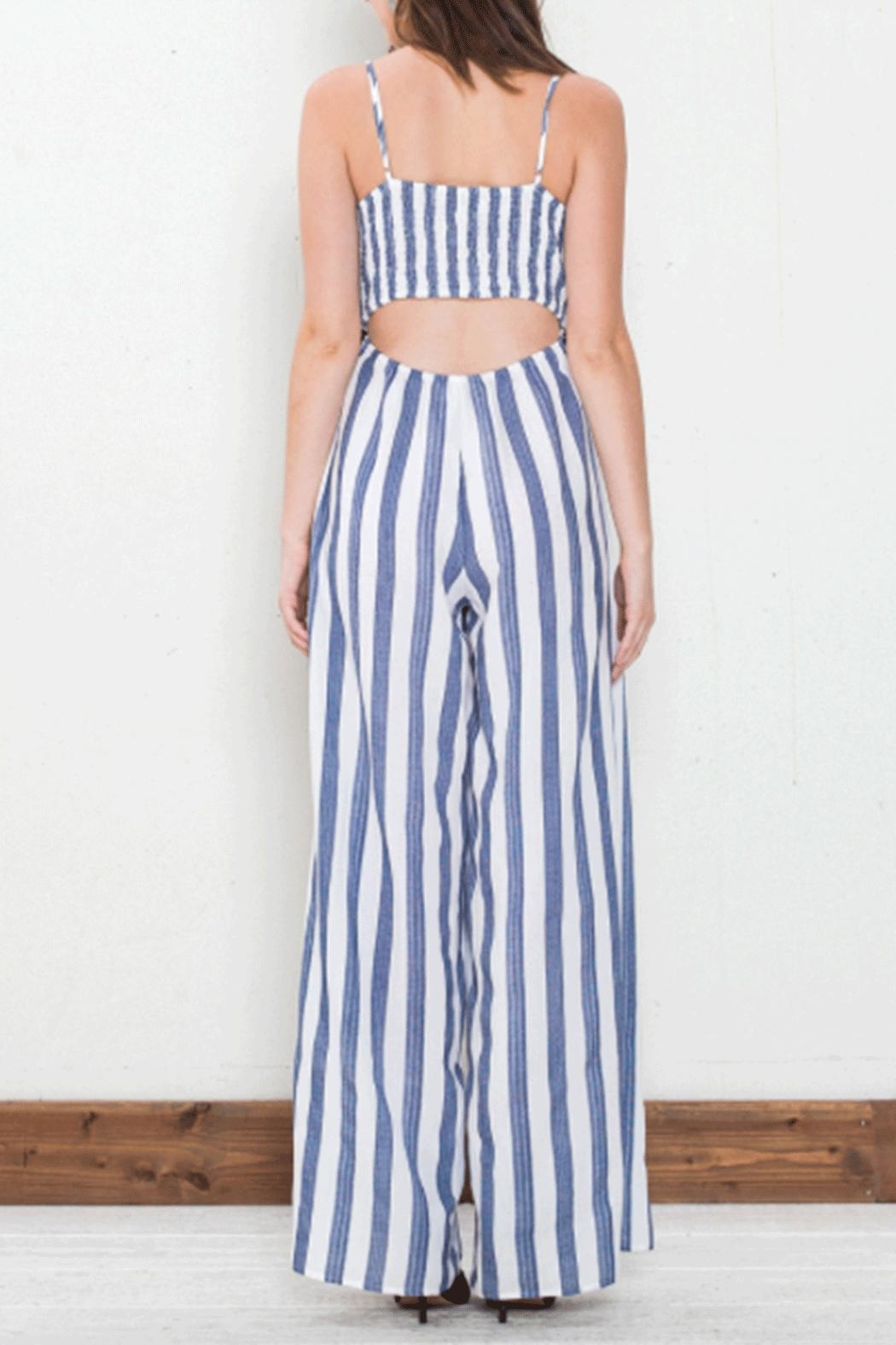 Flying Tomato Tie Front Jumpsuit - Front Full Image